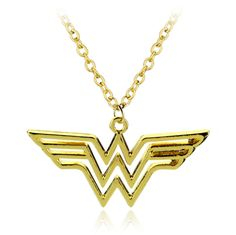 Wonder Woman Gold Pendant Necklace DC Comics Superhero Gal Gadot Justice League: $3.99 End Date: Wednesday Apr-4-2018 7:17:55 PDT Buy It…
