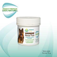 Complément alimentaire 100% naturel antiparasitaire pour chien. Aide à lutter contre les tiques qui transmettent la maladie de Lyme et la piroplasmose au chien.
