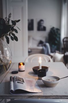Fall Inspiration, Interior Inspiration, Slow Living, Home And Living, Candle Jars, Candles, Interior Decorating, Interior Design, Scandinavian Interior