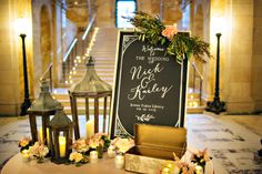 Welcome table at this Boston Public Library wedding. Person + Killian Photography captures wedding moments in this historic and beautiful setting. Boston Wedding Photographer