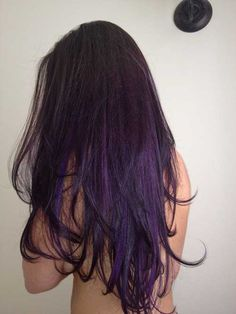 Dark Brown Hair Purple Ombre Colour