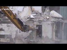 Highrise Building Demolition Hochhaus Abbruch Duisburg Rheinhausen Day 5
