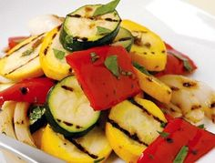 Seasonal/local grilled veggies for main course