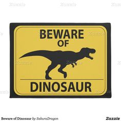 Beware of Dinosaur Sign (New) Sticker Dinosaur Crafts, Dinosaur Party, Dinosaur Birthday, Dinosaur Decorations, Dinosaur Classroom, Preschool Dinosaur, Dinosaur Activities, Preschool Crafts, 4th Birthday