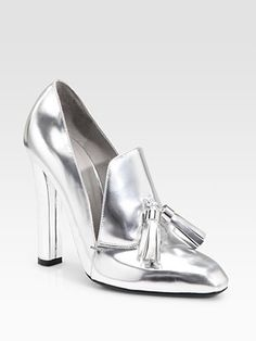 Alexander Wang Anais Metallic High Heel Loafer