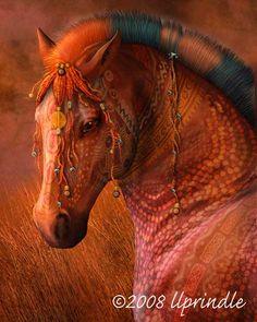 Fine Art Horse Prints by Cwrw:Masai War Pony