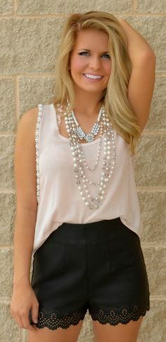Blush Pearls Are A Girls BF Top | Haute Pink Boutique