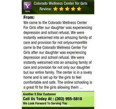 We came to the Colorado Wellness Center For Girls after our daughter was experiencing...
