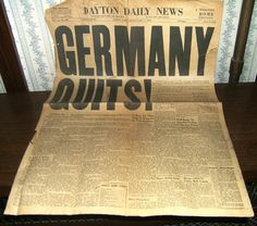 WWII Germany Quits May 1945 Dayton Ohio Daily by TruNorthPickers