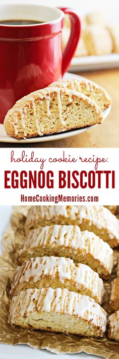 'Tis the season for this delicious Eggnog Biscotti recipe!