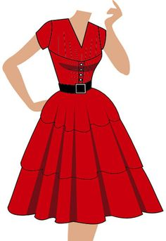 Tiered retro dress. (currently up for voting - click the link and vote YES to give it a shot at production)