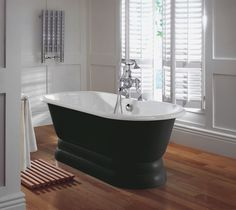 Imperial Bentley Marriot Double Ended Cast Iron Bath With Plinth Traditional Baths, Traditional Bathroom, Art Deco Bathroom, Bathroom Interior, Imperial Bathrooms, Edwardian Bathroom, Double Ended Bath, Cast Iron Bath, Roll Top Bath