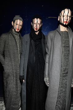 Rick Owens  Oh those jackets.....
