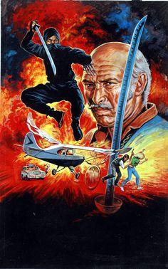 Poster of the TV Show The Master Ninja with Lee Van Cleef Action Movie Poster, Movie Poster Art, Lee Van Cleef, Kung Fu Movies, Samurai Artwork, Shadow Warrior, Cinema, Actors, Japanese Art
