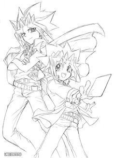 YUGIOH Rough line drawing by L-A-B-O.deviantart.com on @DeviantArt
