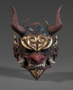 Japanese Demon Mask, Japanese Dragon, Hannya Samurai, Mascara Oni, Yakuza Tattoo, Samurai Tattoo, Kitsune Mask, Samurai Artwork, Japanese Tattoo Art