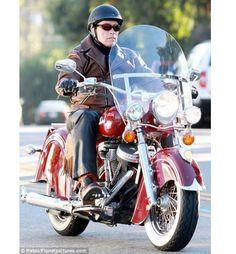 Bolster Arnold Schwarzenegger on his Bike Leather jacket