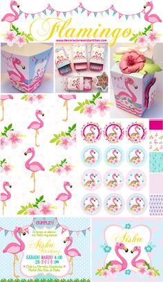 Piezas de fiesta tema #flamingoparty #diseñocreativo #paraeventos #diyparty…