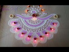 Beautiful New Rangoli Designs With Colours - For Festivals - Rangoli By Maya! - YouTube