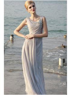 Elegant Sheath / Column Long Chiffon Evening / Prom / Formal Dresses 99901004