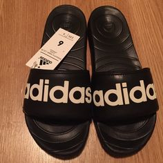 SOLDAdidas Voolomix black slides 6womens!SOLD Lounge in style with these Adidas slides! Brand new, box included. Perfect for summer! Price is firm, no trades! Adidas Shoes Slippers