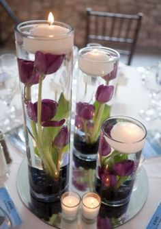Cherry Blossom Floral Design Floating Wedding Centerpiece