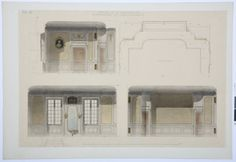 Drawing of the master bedroom in the Hallwyl museum, Sweden. Sweden, Master Bedroom, Floor Plans, Museum, Construction, Mirror, Drawings, Home Decor, Master Suite