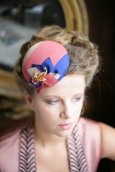 English Rose, Vintage inspired Fascinator. http://www.theheadmistressboutique.com/ https://www.etsy.com/uk/shop/headmistressboutique?ref=si_shop