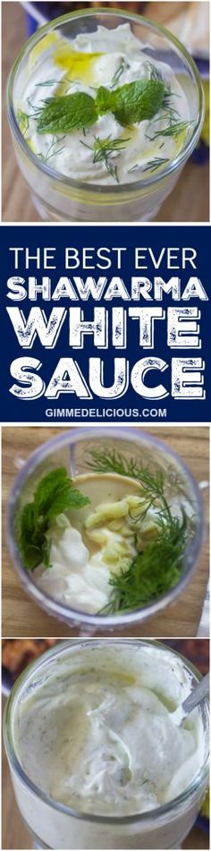 The Best Ever Shawarma White Sauce. i will make it and see!