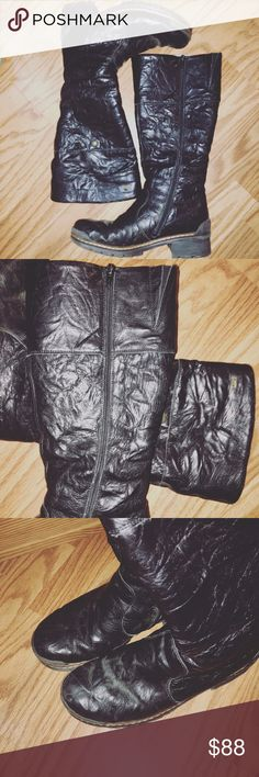 Rieker tall motorcycle boots- leather Lightly used condition. No damages of any kind. Minimal scuffing. See pictures. No wear down of rubber soles. No scratches. Genuine leather. Great price for brand and condition. rieker Shoes Combat & Moto Boots