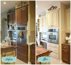 Annie Sloan Chalk Painted Kitchen Cabinets- Old Ochre-DIY Kitchen Makeover: Builder Grade to French Country Chic