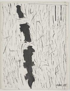 Raoul De Keyser, Broken Line, 1982, Ink on cardboard,m21.6 x 16.5 cm