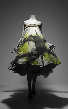 "above dress is from alexander mcqueen's collection ""no.13""  for spring/summer 1999."