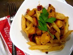 One of my faves!!! Recipe: Penne with Acorn Squash and Pancetta