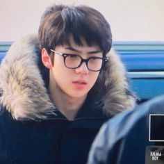 Sehun - 160218 Incheon Airport, departing for Chicago Credit: Kalmia Boy. Exo Chen, Exo Xiumin, Seventeen Lyrics, Sehun Cute, Types Of Boyfriends, Exo Korean, Popular People, Exo Memes, Papi