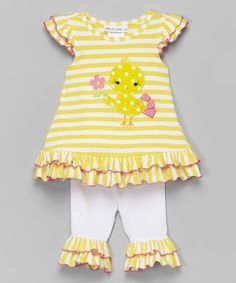 This Yellow Chick Tunic & Leggings - Infant, Toddler & Girls by Gerson & Gerson is perfect! #zulilyfinds