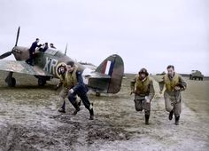 American pilots of No.71 'Eagle' Squadron - Hawker Hurricanes at RAF Kirton in Lindsey, Lincolnshire - 17/3/41