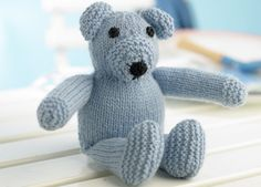 Fin babyjakke i retstrik Knitting Patterns Free, Knit Patterns, Baby Knitting, Free Pattern, Pet Toys, Baby Toys, Kids Toys, Knitted Teddy Bear, Knitted Animals