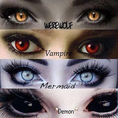 drawing tips Photo – - makeup products Fantasy Kunst, Dark Fantasy Art, Fantasy Girl, Werewolf Eyes, Demon Eyes, Werewolf Makeup, Regard Animal, Vampire Eyes, Mermaid Eyes