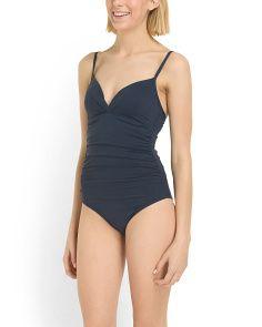 image of Shirred Twist Swimsuit