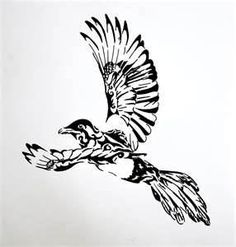 Tribal Magpie By Misseisuke Designs Interfaces Tattoo Design Very Old. Maybe if it was small...... @.@