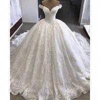 16d7105e44a2 Ball Gown Wedding Dress, V Neck Wedding Dress, Wedding Dress Lace ALIN421166
