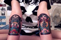 Skull Matryoshka Doll Tattoo Designs