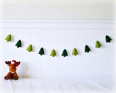 Felt woodland tree banner/ garland/ bunting  by LullabyMobiles