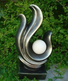 See our great range of unique stone statues, large garden ornaments and sculptures for sale. Outdoor Statues, Outdoor Sculpture, Garden Statues, Solar Lamp, Solar Lights, Modern Lighting, Outdoor Lighting, Lighting Design, Large Garden Ornaments