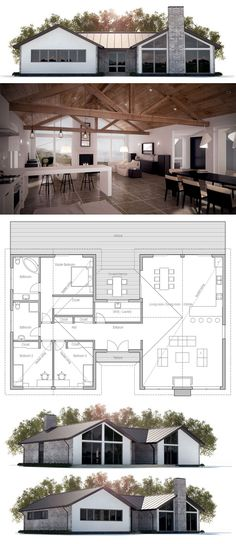 Plans de petite maison, Petites maisons and Plans de maison on Pinterest - Modeles De Maisons Modernes