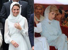 Kate Middleton's Headscarf Recalls Princess Diana Circa 1996: Fashion Flashback -So for today's Fashion Flashback, take a look back at Princess Diana in 1996 and the woman who would marry her son in 2012. It kind of gives me the chills -- in a good way.