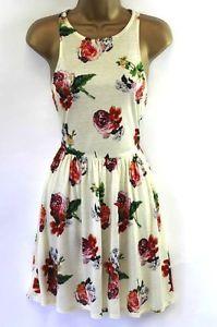 Topshop Flirty Rose Skater Dress UK6-8 US2-4 £30 ♥Vintage Winter Party Tunic50's
