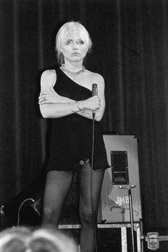 Debbie Harry at Hammersmith, by Derek Ridgers, 1977