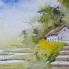 Image result for watercolor landscape